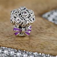 Pandora virágcsokor charm, moments