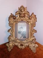 Antik öntöttvas fényképtartó