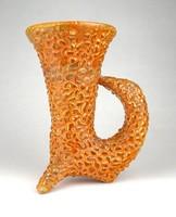 1D244 Gorka Géza stilizált madár kerámia váza díszváza 17 cm