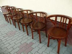 6 db restaurált, tökéletesen stabil antik kávéházi karfásThonet szék BP-n SZÁLLÍTÁSSAL!*