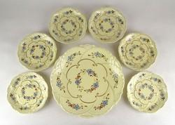 1D210 Búzavirág mintás Zsolnay süteményes készlet