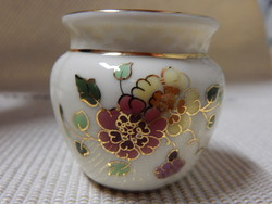 Zsolnay pillangó mintás váza - kézzel festett