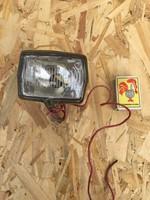 Orosz első kerékpár bicikli világítás lámpa - műanyag és fum búra
