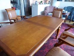 Toscana étkezőasztal bőrbevonatú székekkel