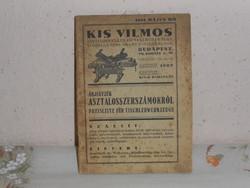 Kis Vilmos: Asztaloskellékek katalógus ( 1934 )