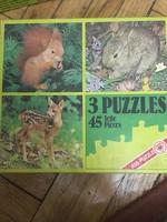 Ass Tierkinder 3 német puzzle az 1970-es évekből