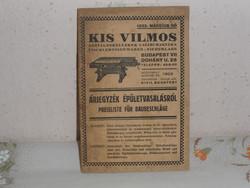 Kis Vilmos: Asztaloskellékek katalógus ( 1933 )