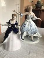 Szecessziós román ( havasalföldi)  porcelán táncosnők