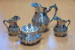 Art deco 4 darabos ezüst készlet, 800as, 1361,4 gramm