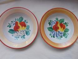 Körtés tányérok párban
