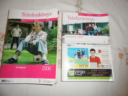 Régi Budapesti telefonkönyv 2006, 2009