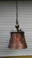 Réz mennyezeti lámpa harang alakú