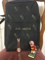Air India Reklám Táska, Óra és Figura az 1960-as