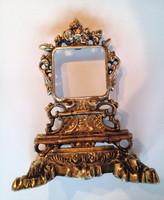 Aranyozott bronz óratartó vagy képtartó