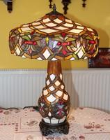 Tiffany lámpa élénk színek, hatalmas 60 cm