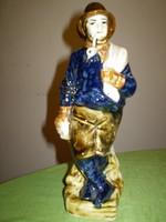 Porcelán figura szobor italtartó kalap alatt tölthető 30x13 cm. hibátlan