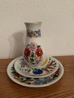 Kalocsai kézzel festett porcelánok 3 db egyben