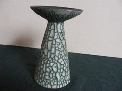 Retrokerámia gyertyatartó vagy talpas váza