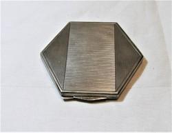 Art Deco Ezüst Pudrié, Púdertartó
