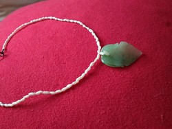 Valódi gyöngy, édesvízi igazgyöngy nyaklánc, alkalmi női ékszer pearl necklace