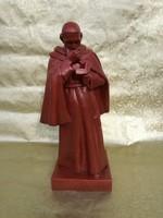 Zsolnay szerzetes. 1900'-as évek 47 cm. Fehércserép.