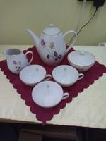 Cseh porcelán teáskészlet részei.
