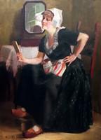 Pap Emil korai, müncheni festménye, örökös garanciával