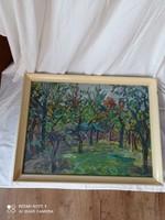 Szignózott Orosz Gellért 1919-2002 festőművész, grafikus munkája, olaj technika.