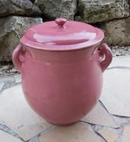 Zsolnay 25 cm magas, 7 literes pink rózsaszín puncs színű bödön zsírosbödön szilke Gyűjtői darab