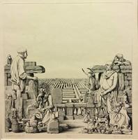 RÉKASSY CSABA (1937 - 1989): Labirintus II.,rézmetszet