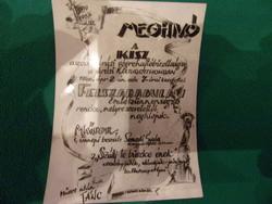 Kisz gyülésre meghívókártya 1960-bol