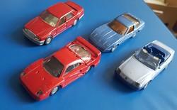 4 db SIKU modellautó  ( Mercedes   Ferrar, Chevrolet ).