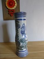 Retro,vintage kék,kakasos kerámia váza