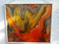 T.Winkler Attila üveg akril festménye