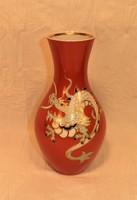 Sárkányos Wallendorf porcelán váza