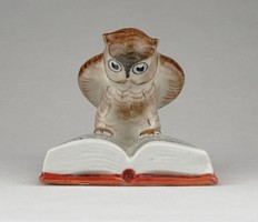 0Z801 Régi DRASCHE porcelán bagoly könyvmoly