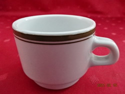 Alföldi porcelán, zöld csíkos kávéscsésze, átmérője 6,5 cm.