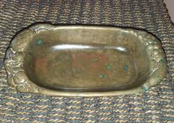Bronz asztalközép, gyümölcs kínáló