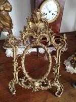 Ritka eredeti aranyozott asztali képkeret, tükör keret