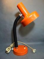 Retro narancs formatervezett Pannónia  asztali lámpa