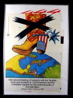 1984 BŐL NAGYON RITKA EREDETI KUBAI POLITIKAI PLAKÁT IZGALMAS GRAFIKÁVAL !!!