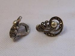 KK980 Antik markazit köves ezüst fülbevaló  835