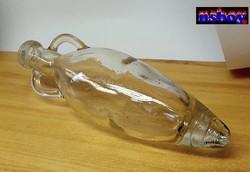 Amfora formájú antik palack, akár szárazvirág kompozícióhoz is megfelel, egyedi ritkaság