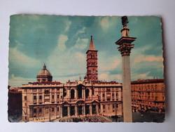 Retro levelezőlap, képeslap, Róma, 1963