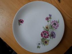 Retró  D.F. csehszlovák porcelán süteményes tányér 6 db, hibátlan
