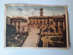 Antik levelezőlap, képeslap, Róma, 1940