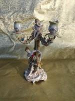 1 ft os aukció. Meisseni jellegű antik gyertyatartó.