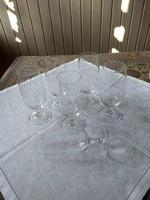 6 db Peill csiszolt kristály boros pohár, német, eredeti dobozában