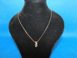 Arany 14k nöi  nyaklánc  medállal   5.8 gr