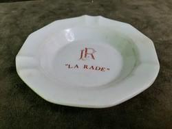"""""""La Rade"""" feliratú, holland, porcelán hamutartó"""